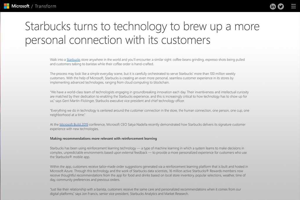 Major-Coffee-Chain-Partners-With-Microsoft-To-Personalize-The-Offer